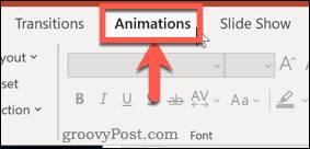 حذف انیمیشن در پاورپوینت